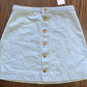 NEW- American Apparel Denim Mini Skirt
